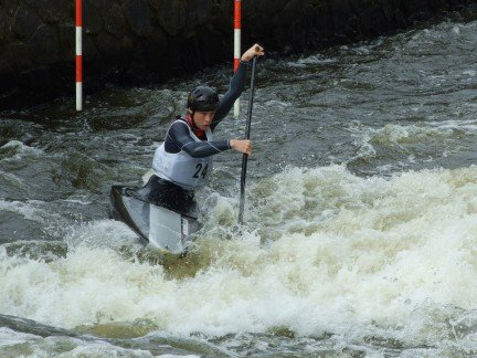 Dan Rawding at Canoe Slalom Junior Europeans 2007