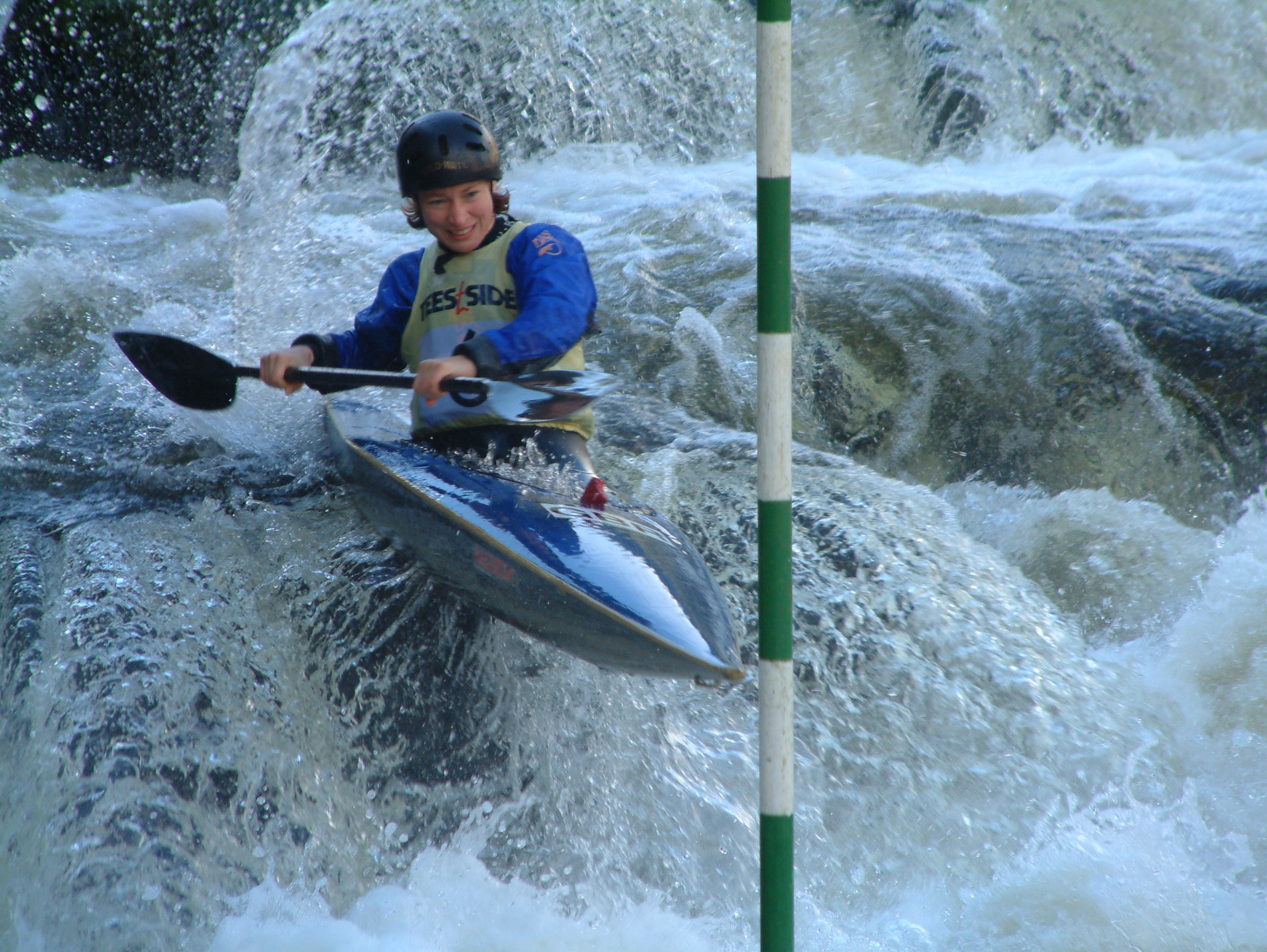 Helen Cardy in action at Llangollen - 2001